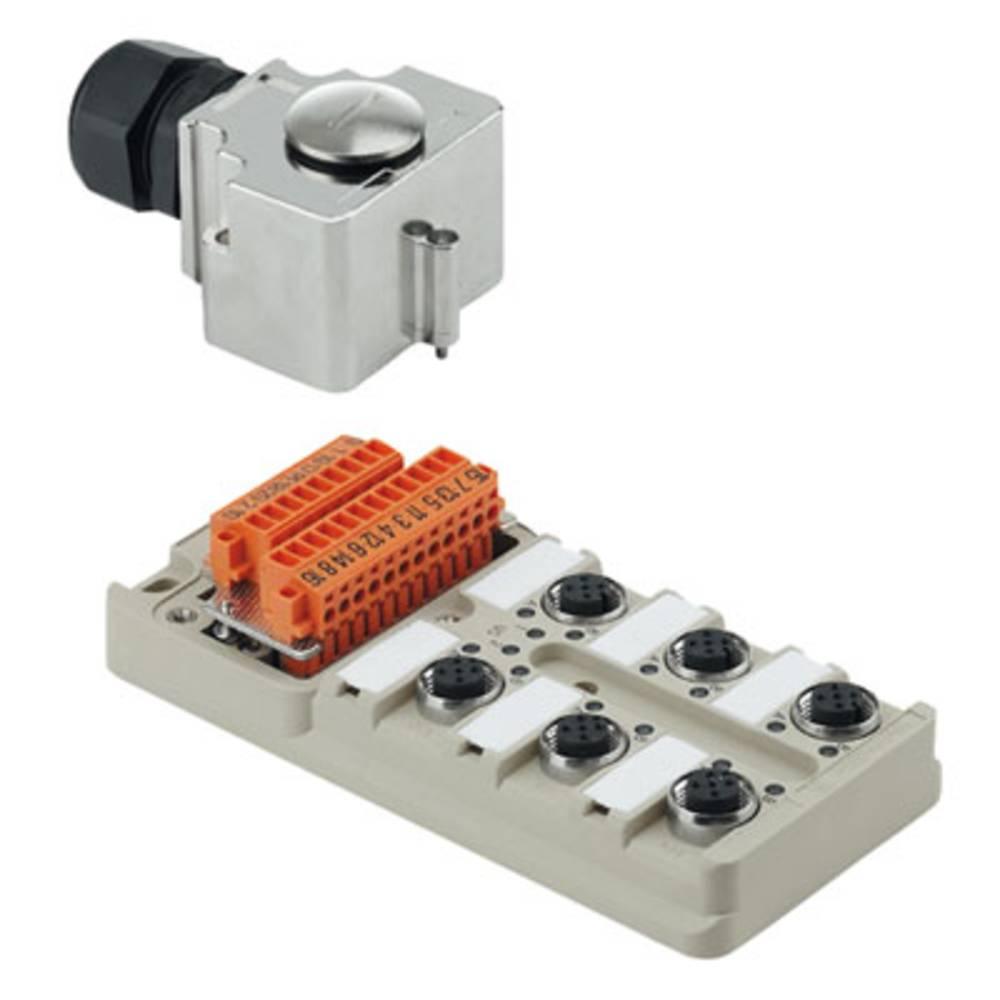 Sensor/aktorbox passiv M12-fordeler med metalgevind SAI-8-MHD-5P M12 1701253000 Weidmüller 1 stk