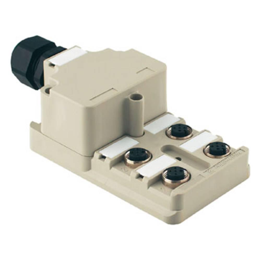 Sensor/aktorbox passiv M12-fordeler med metalgevind SAI-8-M 5P M12 OL 1740190000 Weidmüller 1 stk