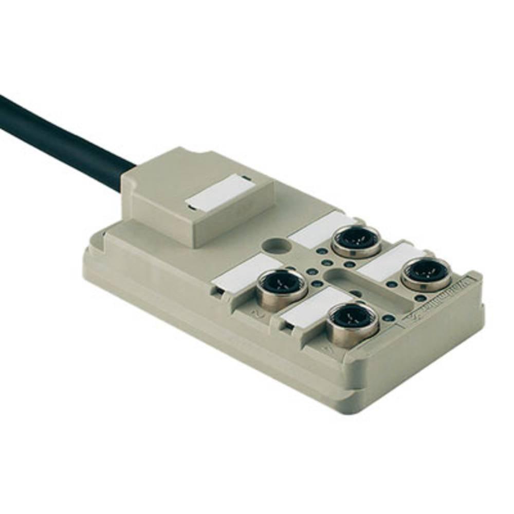 Sensor/aktorbox passiv M12-fordeler med metalgevind SAI-4-F 3P IDC PUR 5M 1766720000 Weidmüller 1 stk