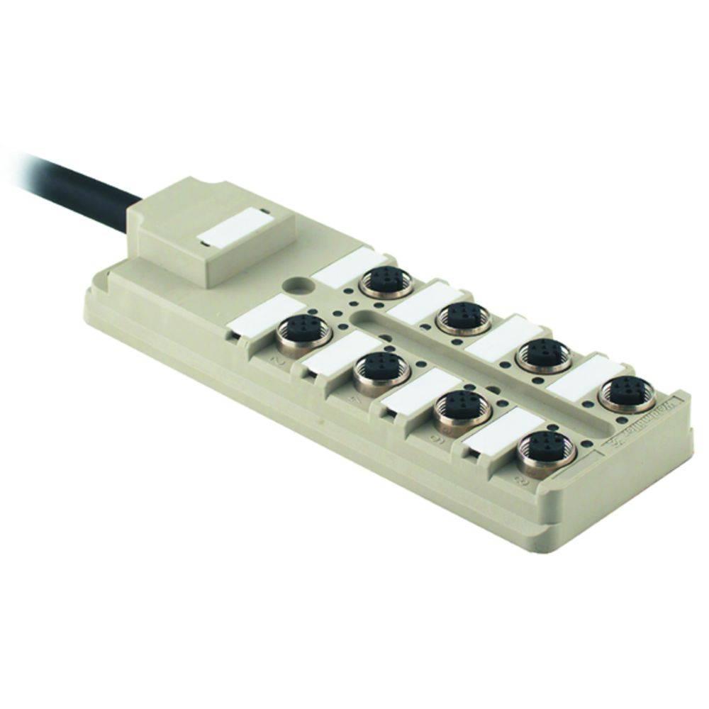 Sensor/aktorbox passiv M12-fordeler med metalgevind SAI-8-F 5P PUR 5M 9456890000 Weidmüller 1 stk