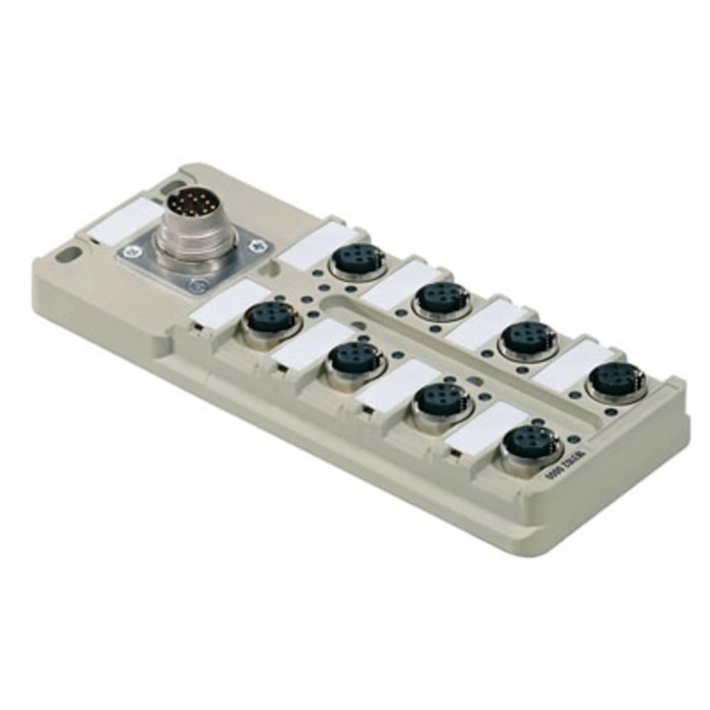 Sensor/aktorbox passiv M12-fordeler med metalgevind SAI-8-M16 4P M12 1831020000 Weidmüller 1 stk