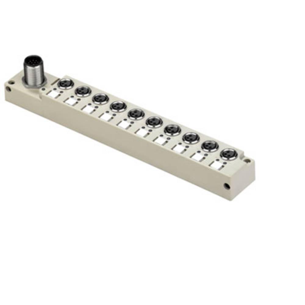 Sensor/aktorbox passiv M8-fordeler med metalgevind SAI-10-S12 3P M8 L 1877950000 Weidmüller 1 stk