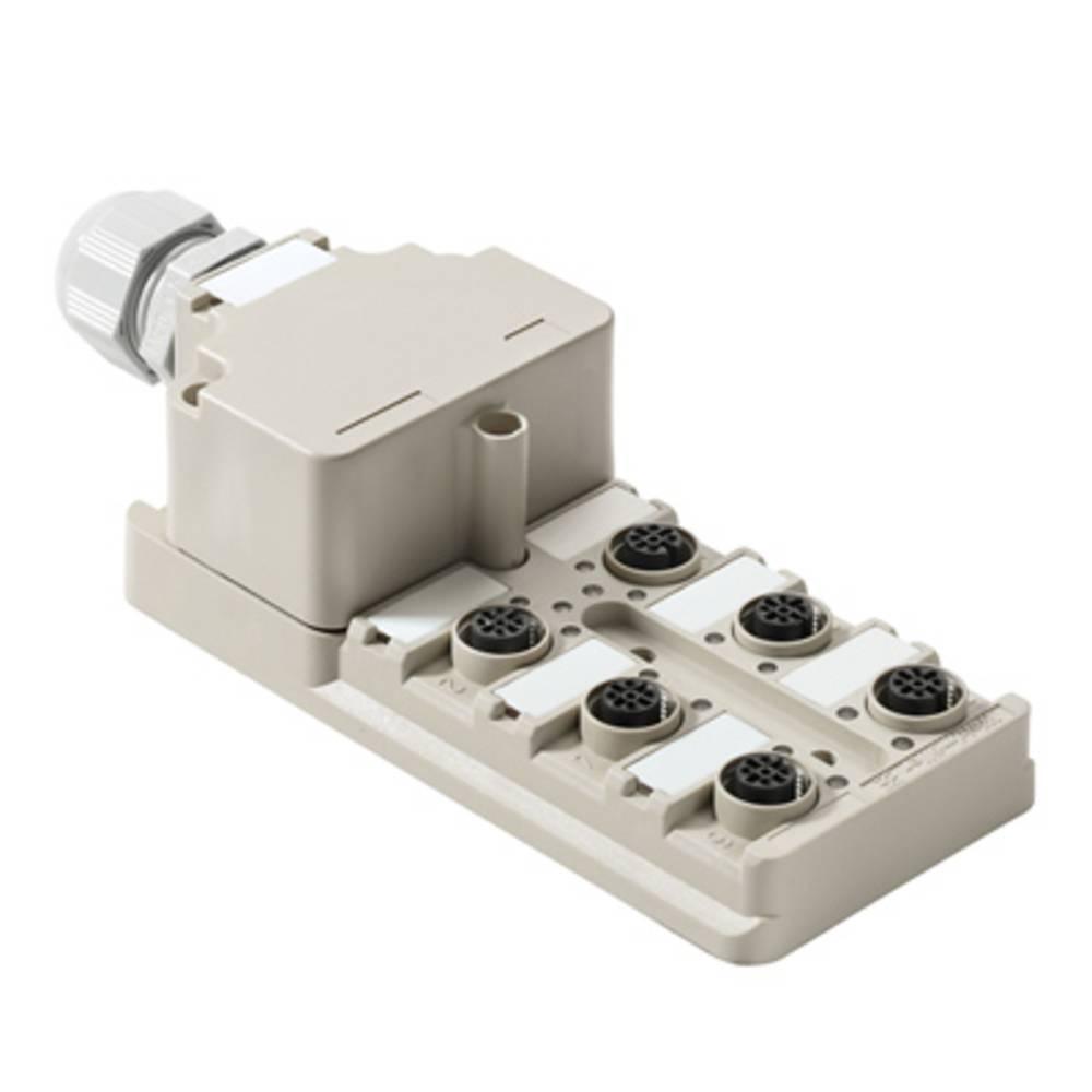 Sensor/aktorbox passiv M12-fordeler med metalgevind SAI-6-M 5P M12 ECO 1892090000 Weidmüller 1 stk