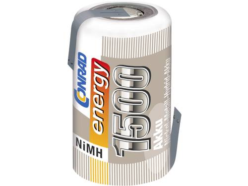 Accucel NiMH 2/3 AF 1.2 V 1500 mAh Conrad energy Met soldeerlip