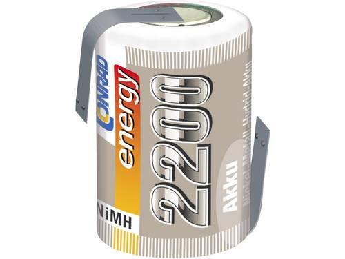 Accucel NiMH 4/5 sub-C 1.2 V 2200 mAh Conrad energy Met soldeerlip