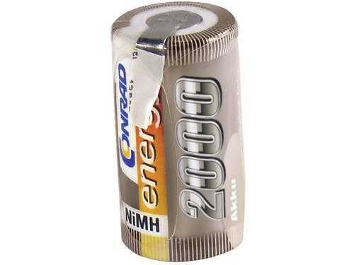 Accucel NiMH Sub-C 1.2 V 2000 mAh Conrad energy met soldeerlip