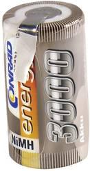 RC Batteri-cell Conrad energy NiMH Sub-C 1.2 V 3000 mAh med lödstift