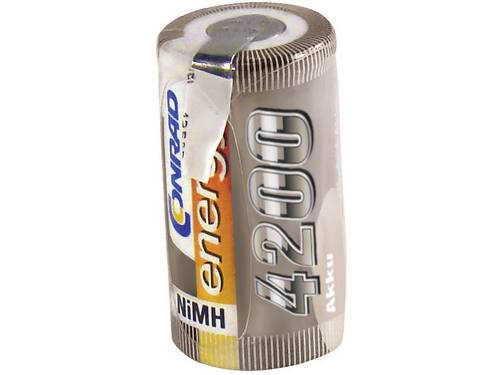 Accucel NiMH Sub-C 1.2 V 4200 mAh Conrad energy Met soldeerlip