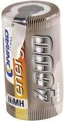 RC Batteri-cell Conrad energy NiMH Sub-C 1.2 V 4600 mAh med lödstift