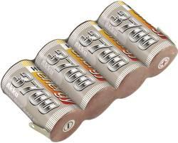 RC Mottagarbatteri (NiMh) 4.8 V 3700 mAh Conrad energy Sida vid sida Med lödfana