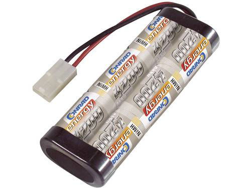 Conrad energy NiMH accupack 7.2 V 4200 mAh Aantal cellen: 6 Stick Tamiya-stekker