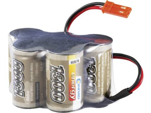 Conrad energy NiMH ontvangeraccu 6 V 1300 mAh Hump BEC