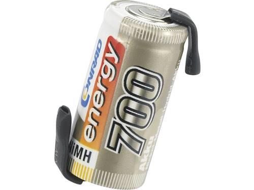 Accucel NiMH 2/3 AA 1.2 V 700 mAh Conrad energy Met soldeerlip
