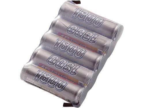 Conrad energy NiMH ontvangeraccu 6 V 1800 mAh Side by Side Met soldeeroog