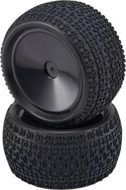Kompletta hjul 1:10 Reely Truggy Block-Spike Disk Svart 2 st