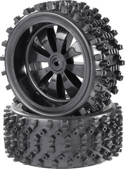 Kompletta hjul 1:6 Reely Buggy Block-Spike 8 ekrar Svart (glänsande) 2 st