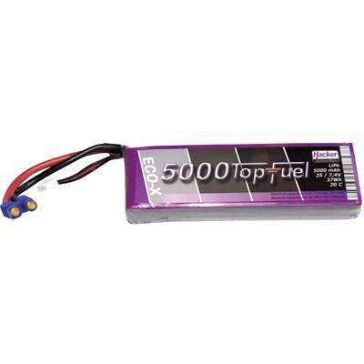 Hacker Scale model battery pack (LiPo) 7.4 V 5000 mAh No. of cells: 2 20 C Stick EC5
