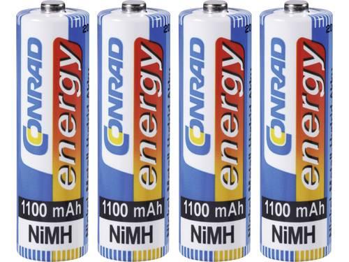 Oplaadbare AA batterij (penlite) NiMH Conrad energy HR06 1100 mAh 1.2 V 4 stuks