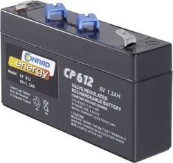 Blybatteri Conrad energy 250091 Bly AGM 6 V 1.2 Ah