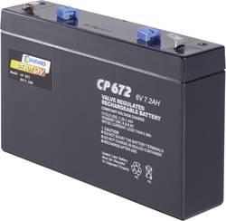 Blybatteri Conrad energy 250129 Bly AGM 6 V 7 Ah