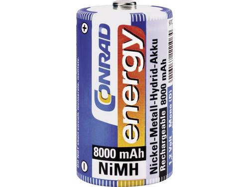 Oplaadbare D batterij (mono) Conrad energy HR20 NiMH 8000 mAh 1.2 V 1 stuks
