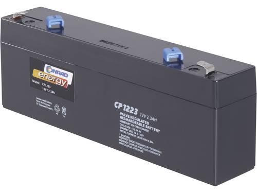 Conrad energy CE12V/2,3Ah Loodaccu 12 V 2.3 Ah Loodvlies (AGM) (b x h x d) 177 x 60 x 34 mm Kabelschoen 4.8 mm Onderhoudsvrij