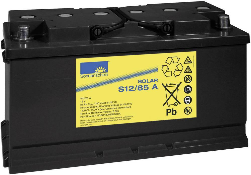Solarni akumulator 12 V 85 Ah GNB Sonnenschein S 12/85 A svinčevo-gelni 353 x 190 x 175 mm konusni pol