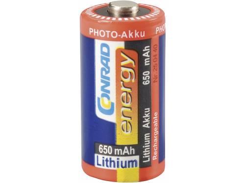 Conrad energy Fotoakku RCR123 Speciale oplaadbare batterij CR123A Lithium 3 V 650 mAh