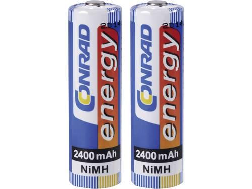 Conrad energy HR06 Oplaadbare AA batterij (penlite) NiMH 2400 mAh 1.2 V 2 stuks
