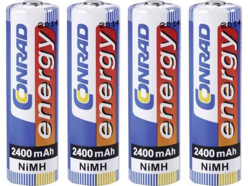 Conrad energy HR06 Oplaadbare AA batterij (penlite) NiMH 2400 mAh 1.2 V 4 stuks