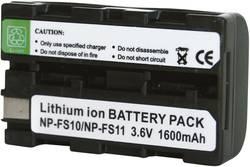 Kamerabatteri Conrad energy Ersättning originalbatteri NP-FS11 3.6 V 1600 mAh