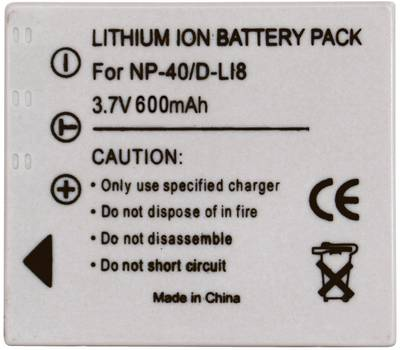 Image of Camera battery Conrad energy replaces original battery NP-40, D-L18, SLB-0737, SLB-0837