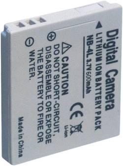 Kamerabatteri Conrad energy Ersättning originalbatteri NB-4L 3.7 V 600 mAh