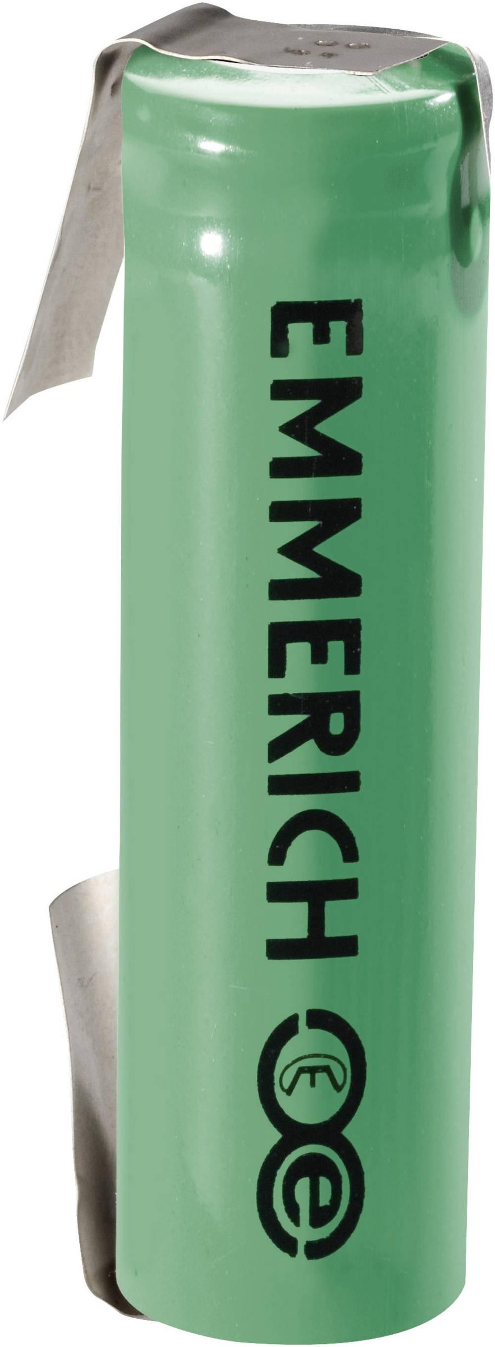 Litij-ionski akumulator s kablom Emmerich 18650V1, ULF 3.6 V 1500 mAh (Ø x V) 18 mm x 65 mm