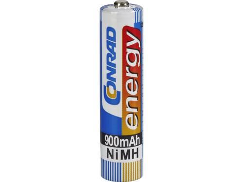 Oplaadbare AAA batterij (potlood) Conrad energy HR03 NiMH 900 mAh 1.2 V 1 stuk(s)