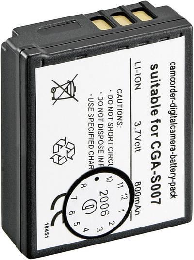 Image of Camera battery Conrad energy replaces original battery CGA-S007, CGA-S007E