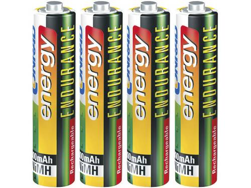 Oplaadbare AAA batterij (potlood) Conrad energy Endurance HR03 NiMH 800 mAh 1.2 V 4 stuks