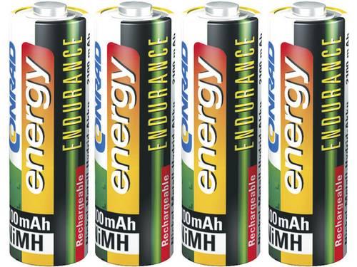 Conrad energy Endurance HR06 Oplaadbare AA batterij (penlite) NiMH 2300 mAh 1.2 V 4 stuks