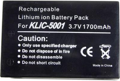 Image of Camera battery Conrad energy replaces original battery KLIC-5001 3.7 V