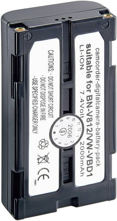 Image of Camera battery Conrad energy replaces original battery BN-V812, VW-VBD1