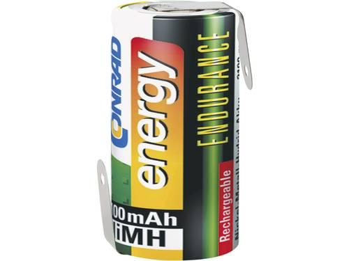 Conrad energy Endurance ZLF Speciale oplaadbare batterij Sub-C Z-soldeerlip NiMH 1.2 V 3000 mAh