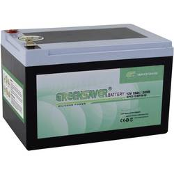 Blybatteri Greensaver SP15-12 12 V 15 Ah Bly-silikone