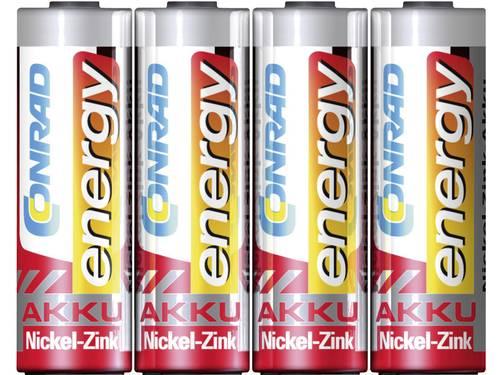 Oplaadbare AA batterij (penlite) NiZn Conrad energy HR06 1500 mAh 1.6 V 4 stuks