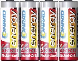 Laddbart batteri R6 (AA) NiZn Conrad energy HR06 1500 mAh 1.6 V 4 st