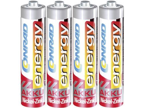 Oplaadbare AAA batterij (potlood) Conrad energy HR03 NiZn 550 mAh 1.6 V 4 stuks