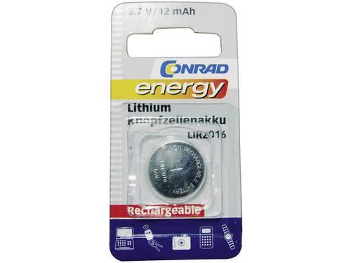 Conrad energy LIR2016 Oplaadbare knoopcel LIR2016 Lithium 12 mAh 3.6 V 1 stuks