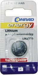 Laddbart batteri Knappcell LIR 2016 Litium Conrad energy LIR2016 12 mAh 3.6 V 1 st