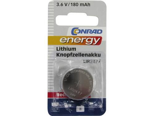Conrad energy LIR2477 Oplaadbare knoopcel LIR2477 Lithium 180 mAh 3.6 V 1 stuks