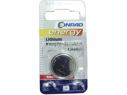 Conrad energy LIR2450 Oplaadbare knoopcel LIR2450 Lithium 120 mAh 3.6 V 1 stuks