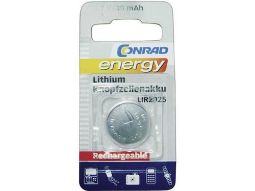 LIR2025 Oplaadbare knoopcel Lithium 3.6 V 30 mAh Conrad energy 1 stuks